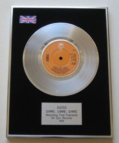ABBA - Gimme Gimme Gimme PLATINUM Single Presentation DISC